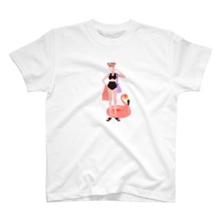 フラミンゴな気分 T-shirts