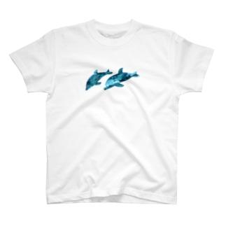 2匹のイルカ T-shirts