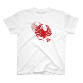 文鳥紋~紅 T-shirts
