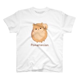 ポメラニアンTシャツ T-shirts