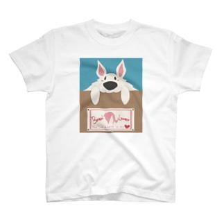 ボルゾイ のぞき見ぼるる T-shirts