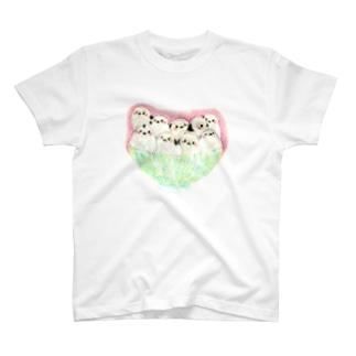シマエナガ丼Tシャツ T-shirts