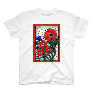 アネモネ ドット T-shirts
