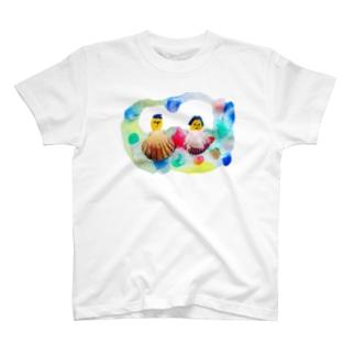 貝殻夫婦 T-shirts