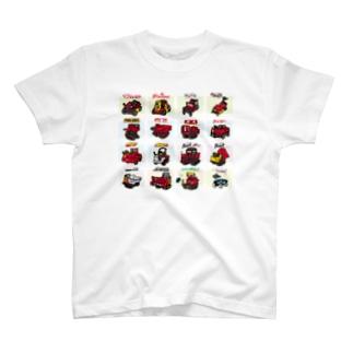 キャニコムの働く車・運搬車 T-shirts