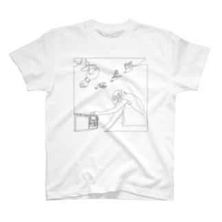 『はつか』ジャケットTシャツ T-shirts