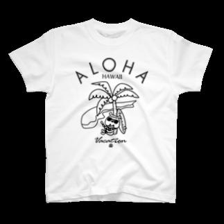 モリヤマ・サルのアロハなブーベボバッビ(モノクロ) T-shirts
