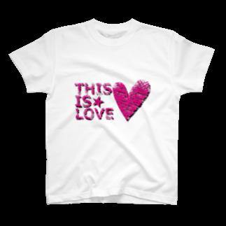 チリツモのTHIS IS LOVE T-shirts