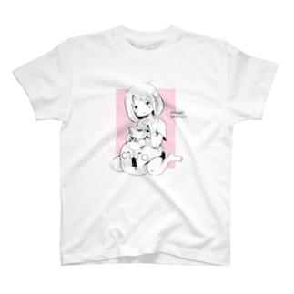 きなこもちYイラスト_A_White T-shirts