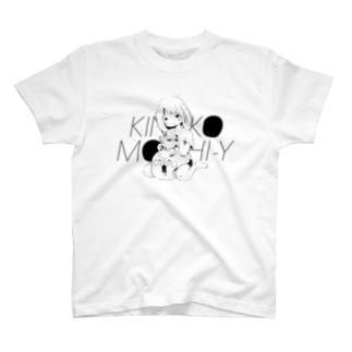 きなこもちYイラスト_C_White T-shirts
