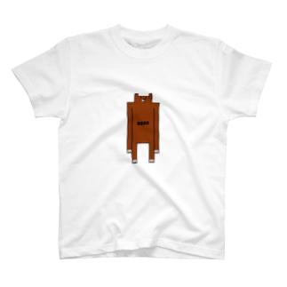 四角いクマ T-shirts