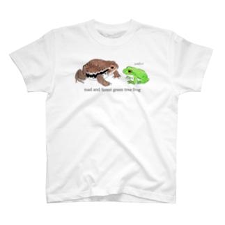 Tシャツ 二匹のカエル T-shirts