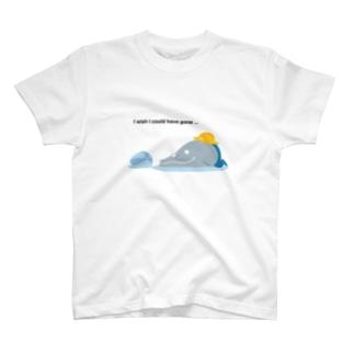 キャンプ行けなかったよ Blue T-shirts