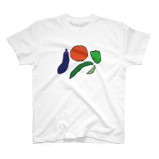 カラー・夏野菜の恵み T-shirts