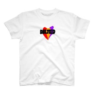 三角筋 黒文字 T-shirts