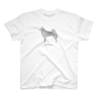 花月 柴犬 T-shirts