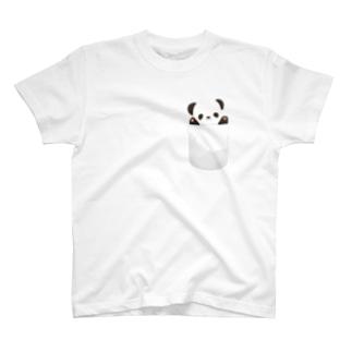 ポケットにパンダちゃん。 T-shirts