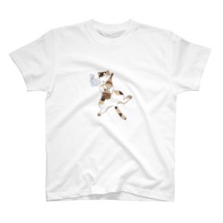 よいどれ猫・三毛 T-shirts