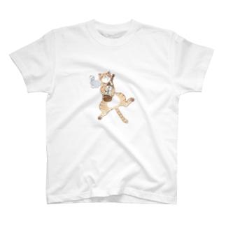 よいどれ猫・チャトラ T-shirts