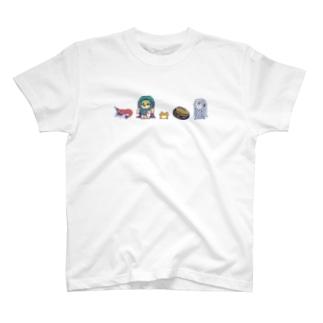 ビエ子さん勢ぞろい~よこ一列~ T-Shirt