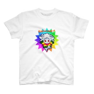 POISONCHARM電脳露店2号の荒ぶるヒツジのポーズ T-shirts