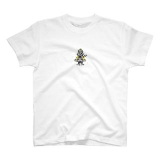 ねこの王様*黄*プチポイント T-shirts