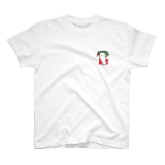 胸に輝く大根マン T-shirts