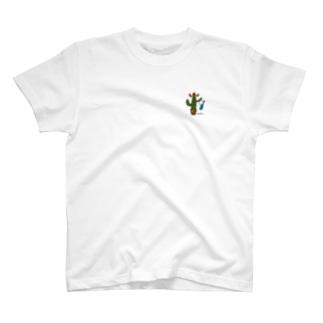 サボテンさん花城よしの応援価格(YOSHIロゴ入り) T-shirts