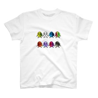 ベイちゃんカラフルに整列。 T-shirts
