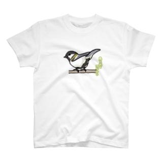 鳥も男も四十から(シジュウカラ) T-shirts