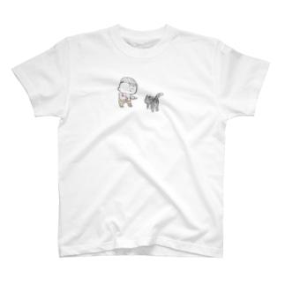 猫にちょっかいだす夫・サミ太郎 T-shirts