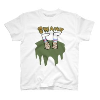 沼に落ちた壮平 T-shirts