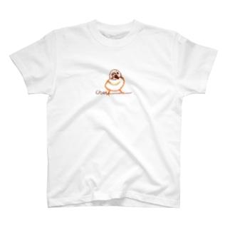 Chun ちゅん スズメ(スケッチ) T-shirts