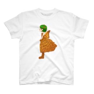 越冬!オオカバマダラドレス T-shirts