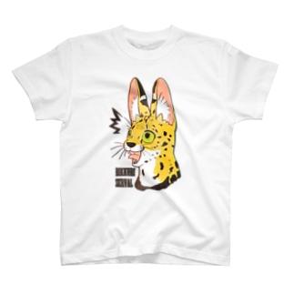 びっくりサーバルキャット T-shirts