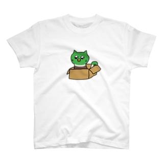 かもちゃん 世界猫の日(うったえる目) T-shirts