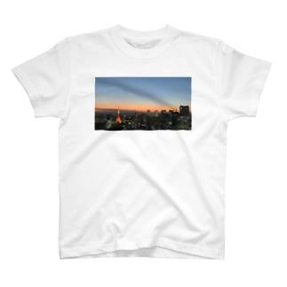 東京から富士山って見えるんだ。 T-shirts