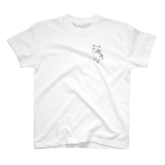フィドル弾く猫 1 T-shirts