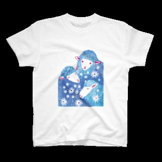 服部奈々子の三匹のひつじ T-shirts