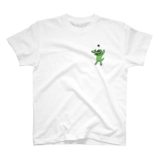 ワニはおにぎりが好き T-shirts