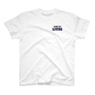 KeepOnLIVRE(青赤ロゴ) T-shirts
