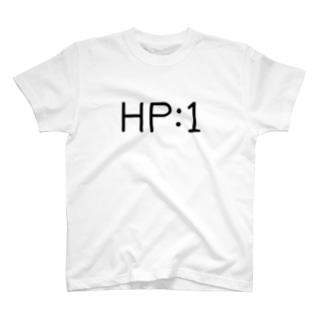 残りHPが1の人用のTシャツ T-shirts