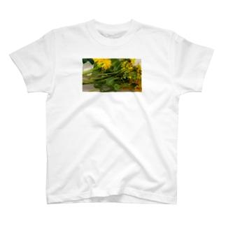 お花もきゅもきゅ T-shirts