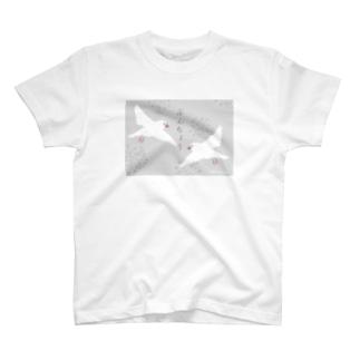 ぶんちょう グレー T-shirts