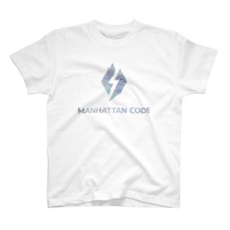 MHT_LOGO ー MB_Blue T-shirts