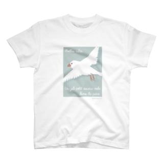 文鳥株式☆会社の文鳥のつばさ T-shirts