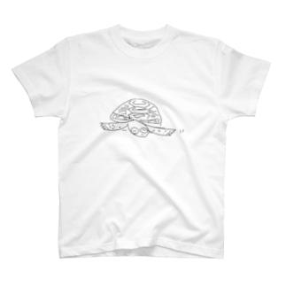 リクガメ かめ吉 T-shirts