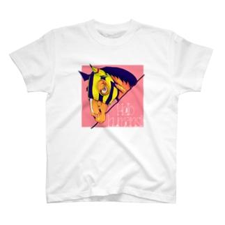 キラキラなお馬(イエロー) T-shirts
