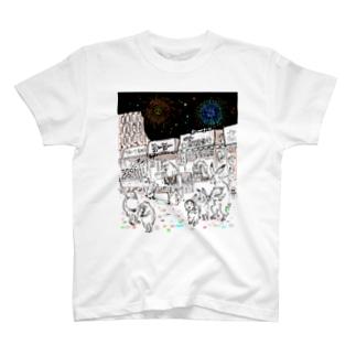 鳥獣戯画オリジナル004-縁日 T-shirts