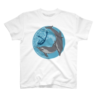 マダライルカとドルフィンスイマー T-shirts